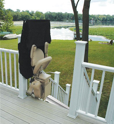 scott outdoor outside exterior stairchair