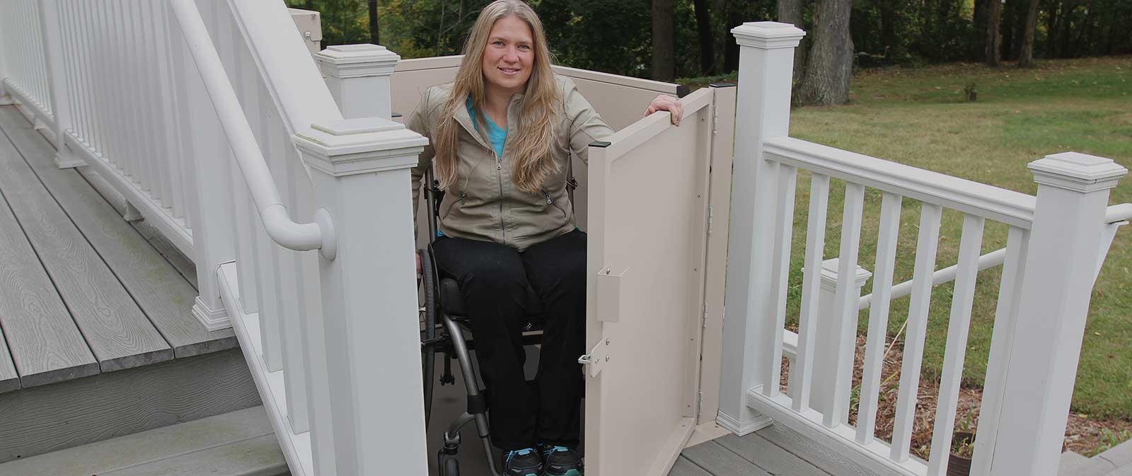 macslift PL-50 wheelchair scooter are handicapped access ramp porchlift