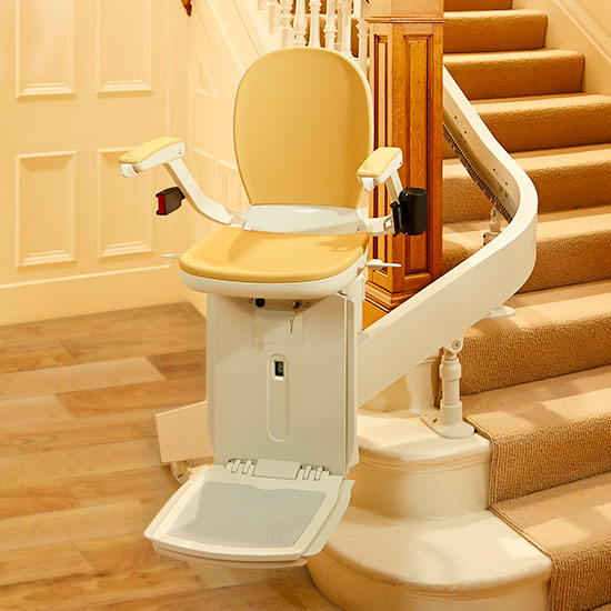 Acorn 180 Stairlift - SAN JOSE designed for curved staircases